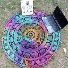 High Quality Multicolor Round Beach Pool Home Shower Towel Blanket Table Cloth Yoga Mat Sep8