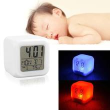 7 Led Colour Clock And 5 in 1 Calendar Alarm For Baby Children at Bedroom TB(China)