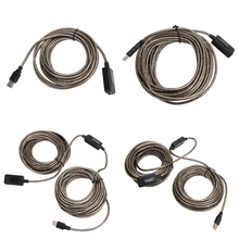 USB 2.0 5M/10M/15M/20M USB Extension Cable Male To Female Extension Line Cable High Speed Wire Data Adapter