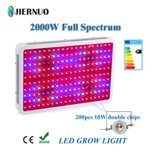 Grow LED 2000W 1200W 1000W 600W 300W Double Chips Grow Light Fitolampa Full Spectrum for indoor plants Aquarium Growing CA(China)