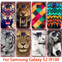 Soft Phone Cases For Samsung Galaxy SII I9100 S2 GT-I9100 Cases Lions Tigers Hard Back Covers Skin Shell Housing Sheath Bag Hood