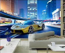 3d room wallpaper custom murals non-woven sticker Luxury sports car HD photo TV background wall painting wallpaper for walls 3d