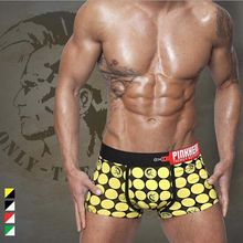 Cotton Cool Stylish Mens Boxer Shorts Cartoon Underwear Stretch Boxers Shorts M-2XL Plaid(China)