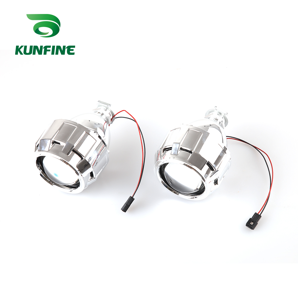 KUNFINE 2PCSlot 2.5 inch Bi-Xenon HID Projector Lens With high low beam for car headlight H1 halogen or xenon bulb (5)