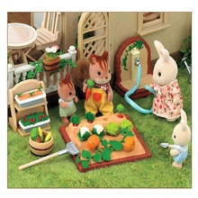 New Arrival Sylvanian Families Toy Miniature Furniture Vegetable Garden Set Kids Pretend Toys Girls Gifts Furniture for Dolls(China)