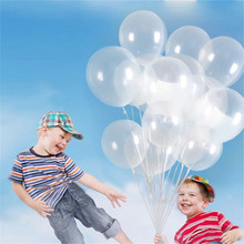100pcs/lot 12 inch Latex balloon Circular transparent ball floating bubble ball Wedding supplies Party decoration wholesale(China)