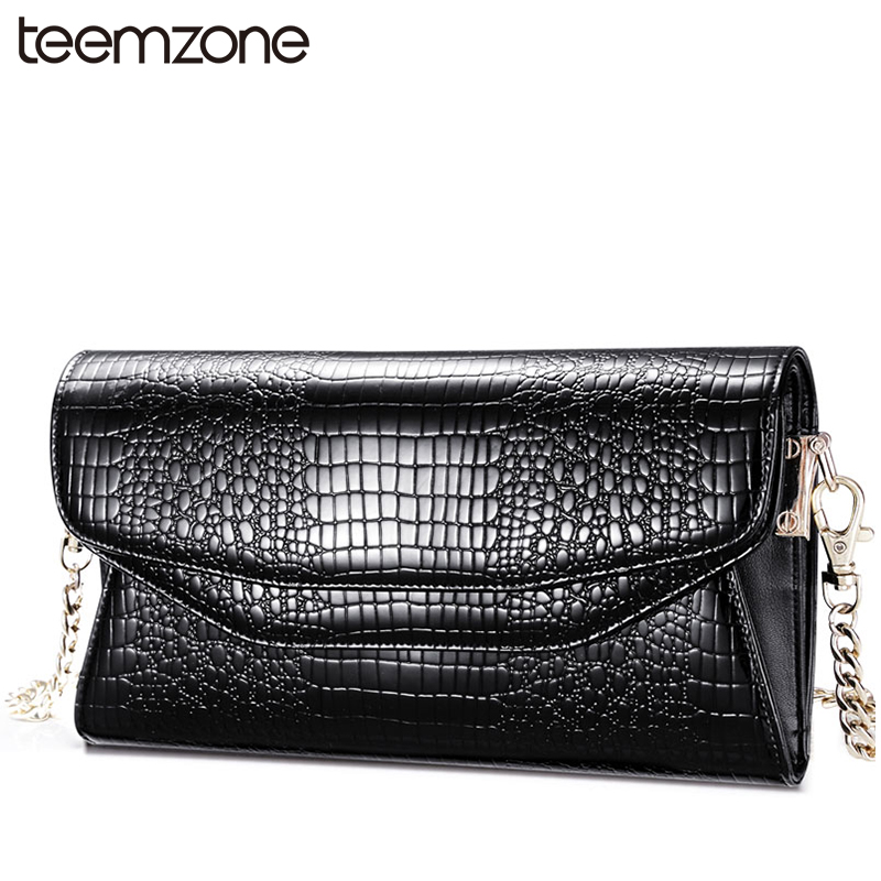 European and American Fashion Buckle Clamshell Zipper Pull Chain Handbag Women Genuine Leather Messenger Bag Black Wallet S3402<br><br>Aliexpress
