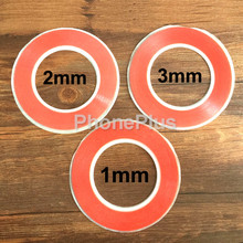 3pcs/lot mix size red 1mm 2mm 3mm Scotch 3M Double Sided Tape Phone LCD Screen for Cell Phone(China)