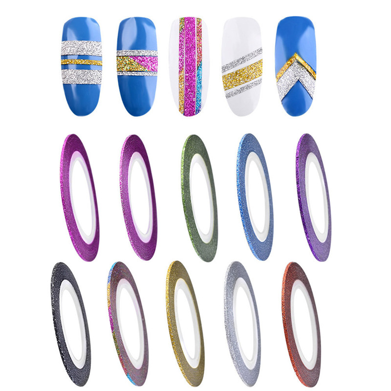 10 Colors Rolls 1mm Striping Tape Line Rough Styles Nail Art Tips Decals 2017 Hot product discount beauty(China (Mainland))