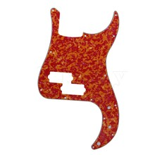Yibuy Artistical Red Agate Pattern 3 Ply PB Bass Guitar Pickguard Scratch Plate