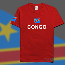 DR Congo men t shirt 2016 jerseys' nation 100% cotton t-shirt clothing tees country sporting COD DRC DROC Congo-Kinsha Congolese