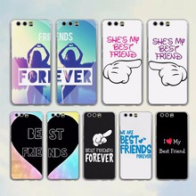 we are best friends forever style clear Mobile phone Case cover for Huawei P10 Lite P10 Plus P8 P9 Ascend G7 G8 Mate 9(China)