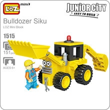 LOZ Mini Block Creator Technic Bulldozer Blocks Rc Truck Bulldozer Loader Models Kids Toys Educational DIY Building Bricks 1515(China)