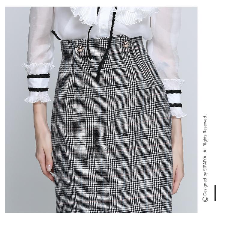Women Houndstooth Skirt (10)