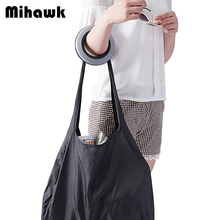 Personality Systole Shopping Bag Cool Black ECO Multi-function Handbag Travel Reusable Grocery Bag Accessories Supplies Products(China)