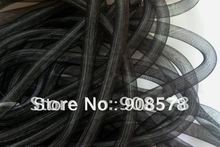Black 16mm Tubular Crin - Large - diameter used to make cyberlox hair extensions 60yard(China)