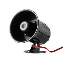 Black Wired Alarm Siren Horn Outdoor with Bracket for Home gsm Alarm System Security loudly sound siren 120DB