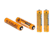 Hi-Power 4 x AAA PANASONIC 1.2V 630mAh Rechargeable NiHM Battery Charging times or1200 times Free shipping!