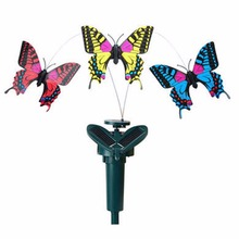 2017 New Garden Decoration Solar Flying Butterfly Artificial Fluttering Solar Energy Flying Simulation Butterfly(China)