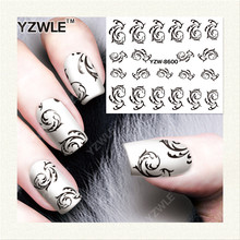 YZWLE  1 Sheet DIY Designer Water Transfer Nails Art Sticker / Nail Water Decals / Nail Stickers Accessories (YZW-8600)