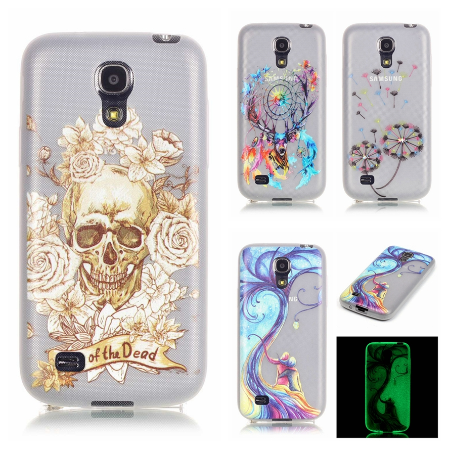 For Samsung Galaxy S4 Mini i9190 Luminous Embossed Case Ultra Thin Phone Case For Samsung S4 Mini Slim Soft TPU Silicon Cover ]