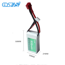 GDSZHS 11.1V 850mAh 30C 3S Lipo Battery T plug For RC Models Airplane Helicopter Car Boat Quadcopter
