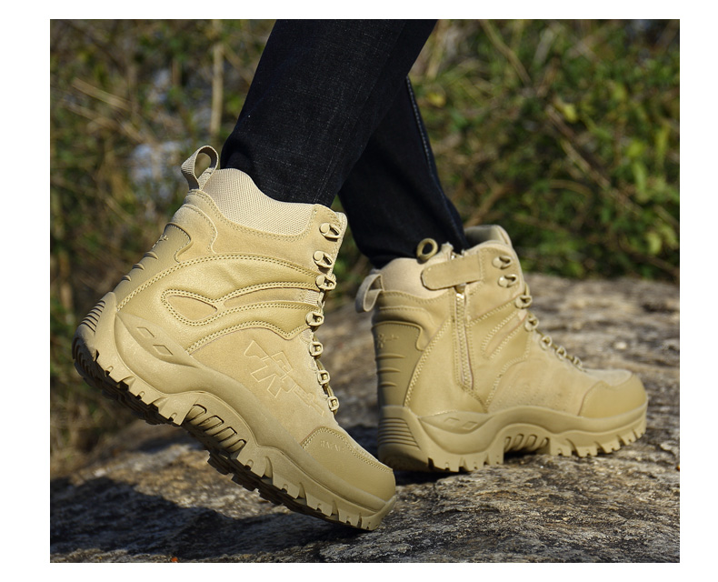 Brand Men's Boots Military boot Chukka Ankle Bot Tactical Big Size Army Male Shoes Safety Combat Mens Motocycle Boots (18)