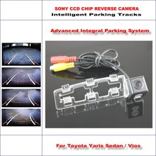 860 Pixels Car Rear Back Up Camera For Toyota Yaris Sedan / Vios 2008-2012 Rearview Parking Camera / Dynamic Guidance Tragectory