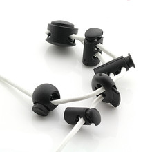 100 PCS/LOT Plastic Tightening Buckle BUTTON WITH Spring Adjust Stopper ROPE SEWING ACCESSORIES