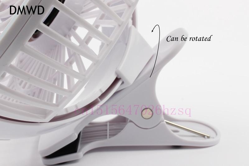 DMWD Mini USB Fan Portable with Clip-on Design Stepless Controllable Speed Cooling Clip Fan Slideway fan
