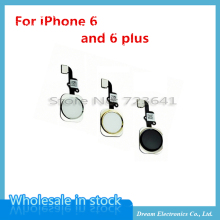 "10pcs/lot NEW Home Button with Flex Cable for iPhone 6 4.7"" / 6plus 5.5"" Black/White/Gold Home Flex Assembly Free shipping"