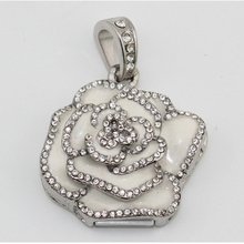 White Rose Flower Valentine'S Day Girl Gift Jewelry Usb Flash Drive 64GB 32GB Pendrive 16GB Pen Drive 8GB Computer Pendrives