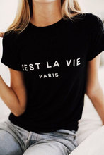 C'EST LA VIE Paris France ladies tee Women Cotton Casual Graphic t shirt Summer Style Short Sleeve Crewneck Fashion tshirt