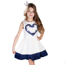 ChildDkivy 2-12Y Girls Dresses Summer 2017 Princess Dress Baby Girl Fashion Clothes Robe Fille Enfant Kids Dresses for Girls(China)