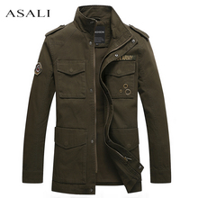 Men Jacket Coat Army Green Long Section Fashion Trench Coat Jaqueta Masculina Veste Casual Fit Overcoat Jacket Outerwear#8803