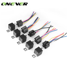 5pcs Amp 5 PIN Car SPDT Automotive Relay Car Auto Relay With Wiring Harness Socket New Automotive 12V30/40A(China)