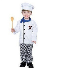 2017 Hot sale The new special costumes children photography boys chefs clothing performance clothing Halloween clothes(China)