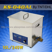 10L Industrial Digital Powerful Ultrasonic Cleaner KS-040AL 240W 40KHz Ultrasonic Washing Machine+basket By DHL TNT UPS