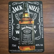 Jack Daniel's Jennessee Whiskey Metal Sign Shabby Chic 20*30 cm Home Bar Pub Cafe Restaurant Decor Tin Signs Vintage Home Decor(China)