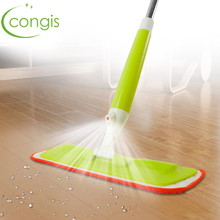 Congis 1PC New Spray Mop Stainless Steel Handle Microfiber Cloth Head Clean Mop Built-in Water Bottle Household Floor Clean Tool(China)