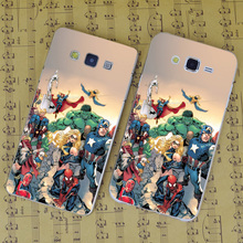 B2366 Marvel Comic Book Transparent PC Hard Case Cover For Samsung Galaxy J 3 5 7 A 3 5 7 8 9 2016 GRAND 2 PRIME