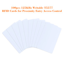 100pcs/lot  Writable RFID Tags Smart Cards 125KHz Proximity Door Control Entry Access EM Card Touch Memory T5577 Wholesales