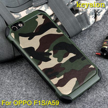 Hot Case for OPPO F1S Cover 2 in1 Army Camo Camouflage Pattern PC+TPU Armor Anti-knock Protective Back Cover For OPPO A59(China)