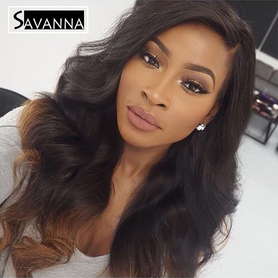 Long Loose Wavy Virgin Human Hair Ombre Glueless Full Lace Wigs For Fashion Women Highlight Color Brazilian Hair Lace Front Wigs<br><br>Aliexpress