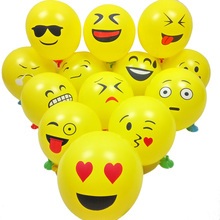"100PCs 12"" Emoji Expression Latex Balloons Cartoon Inflatable Balloons Wedding Decor Balloons Birthday Party Decoration 30cm"
