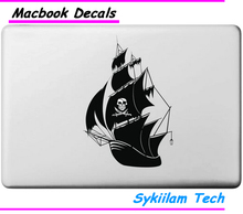 Boat of Pirate for apple Logo Sticker for Macbook Skin Air 11 13 Pro 13 15 17 Retina Laptop Computer Vinyl Local Decal(China)