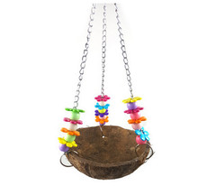 Pet birds Parrot Toy squirrel coconut shell basket sling acrylic ship hammock hanging basket