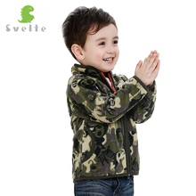Svelte 2017 Spring Autum Fall for Children Boy Heavy Fleece Camouflage Outerwear Kids Soft Fur Polar Fleese Jackets Jersey Parka