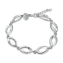 H517 // Wholesale Factory Price fashion lips Bracelet, hot sale 925 jewelry Chain silver plated Bangle / Bracelet(China)