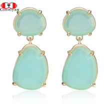 New Arrival Hottest Fashion International Exaggerated Personality Candy Colors Drop Earrings,Factory Price,Wholesale